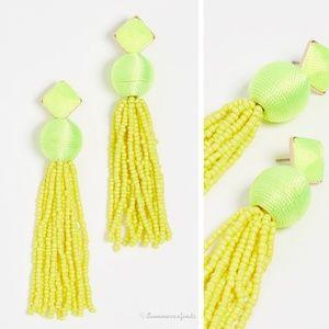BaubleBar Azura Beaded Tassel Earrings